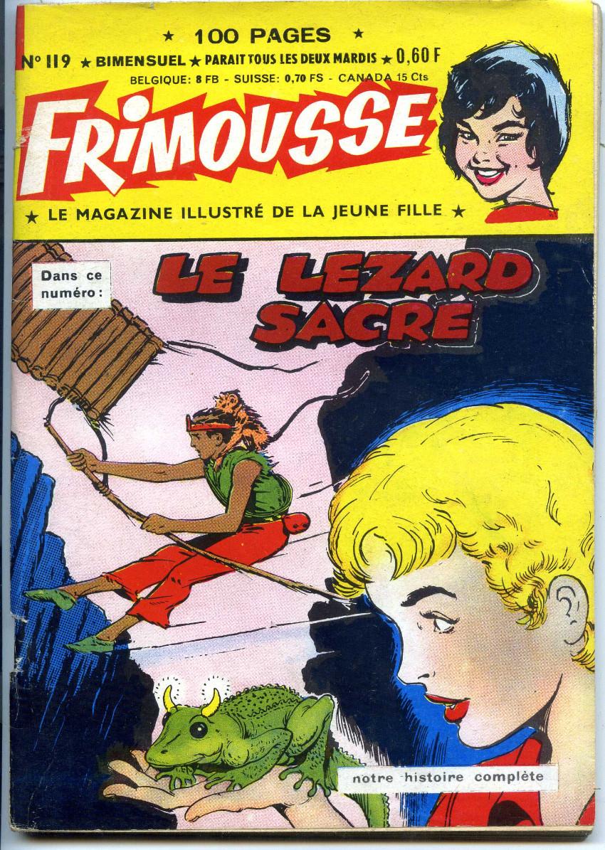 Couverture de Frimousse et Frimousse-Capucine -119- Le lézard sacré