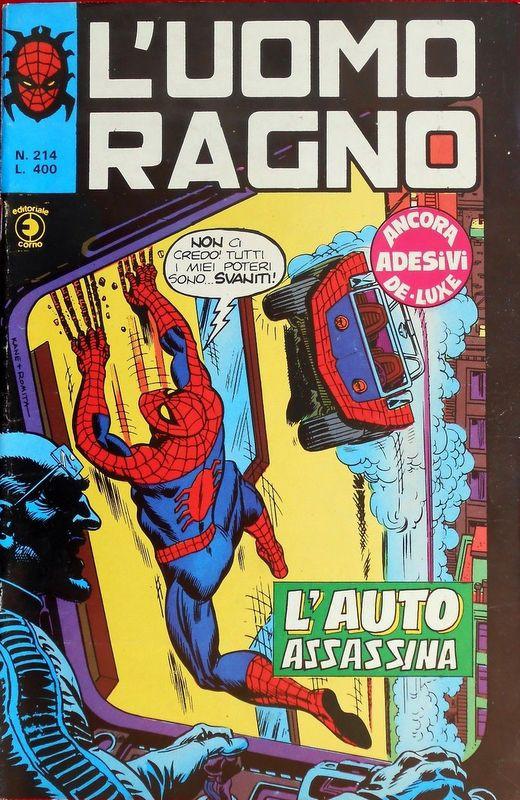 Couverture de L'uomo Ragno V1 (Editoriale Corno - 1970)  -214- L'Auto Assassina