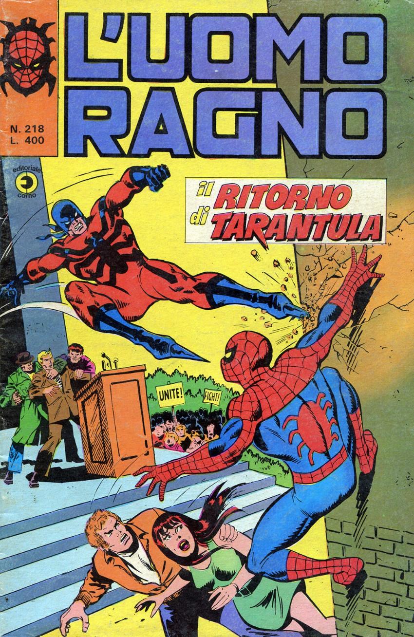 Couverture de L'uomo Ragno V1 (Editoriale Corno - 1970)  -218- Il Ritorno di Tarantula
