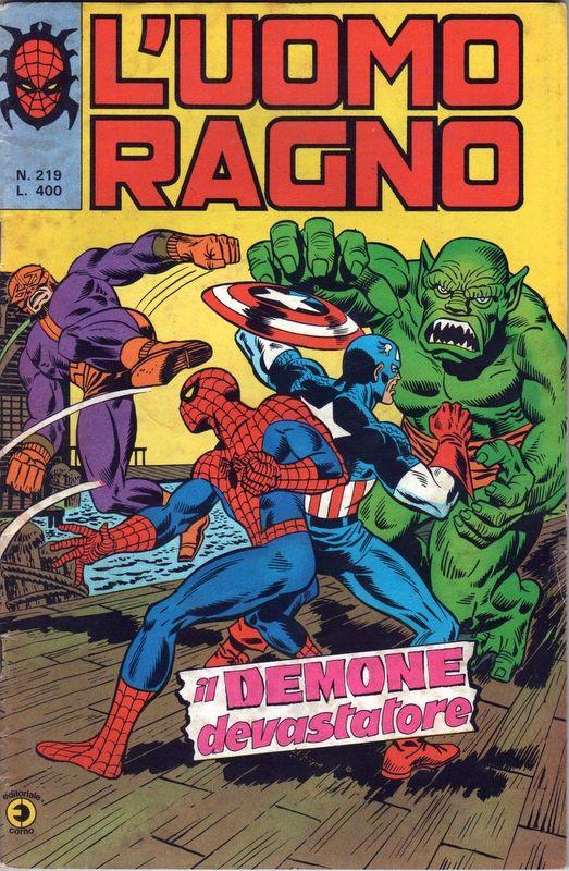 Couverture de L'uomo Ragno V1 (Editoriale Corno - 1970)  -219- Il Demone Devastatore