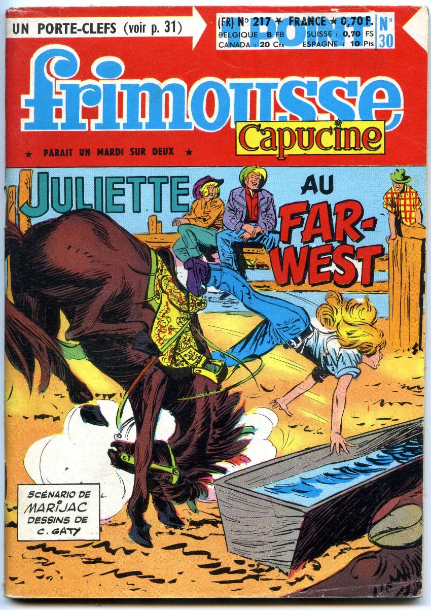 Couverture de Frimousse et Frimousse-Capucine -217- Juliette au far-west