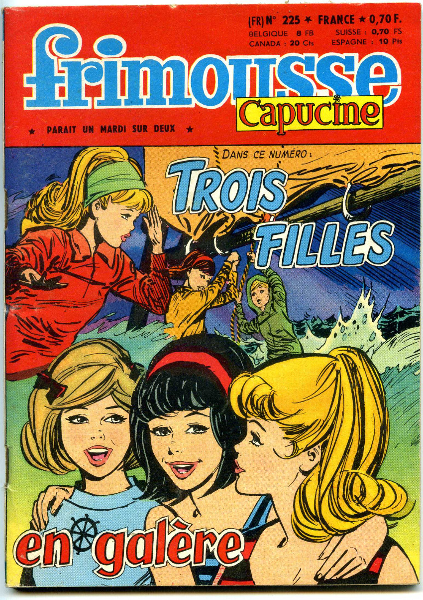 Couverture de Frimousse et Frimousse-Capucine -225- Trois filles en galère