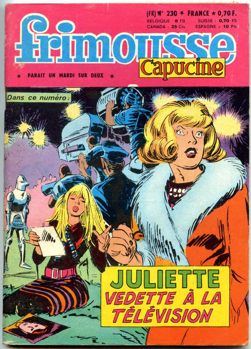 Couverture de Frimousse et Frimousse-Capucine -230- Juliette vedette à la télévision