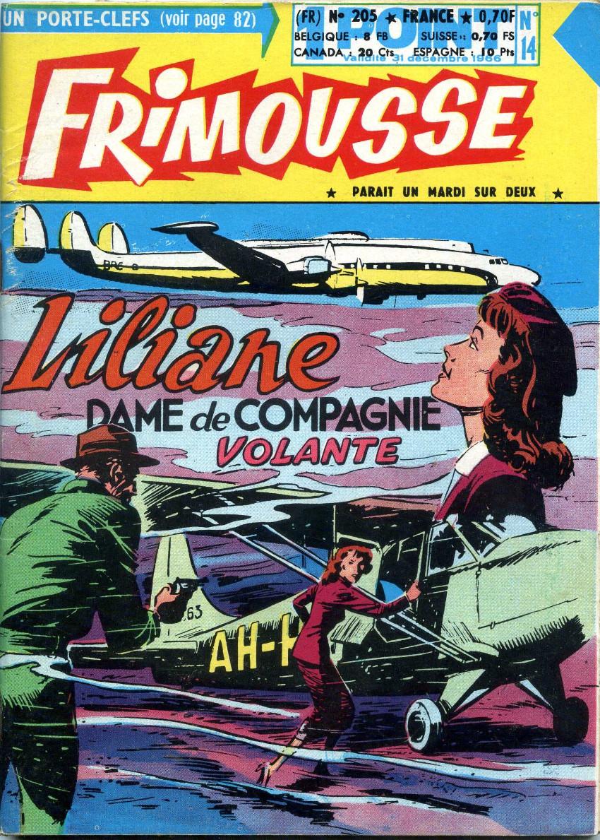 Couverture de Frimousse et Frimousse-Capucine -20514- Liliane dame de compagnie volante
