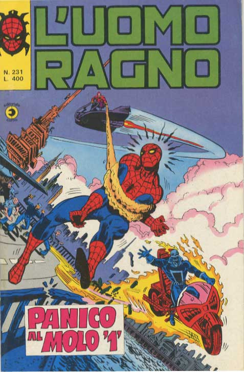 Couverture de L'uomo Ragno V1 (Editoriale Corno - 1970)  -231- Panico al Molo