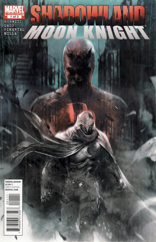 Couverture de Shadowland: Moon Knight -1- Shadowland: Moon Knight 1/3
