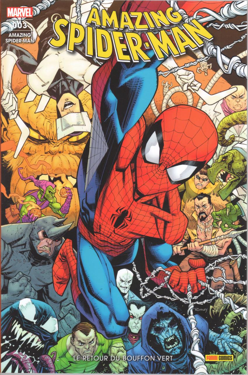Couverture de Amazing Spider-Man (série 1-2021) -3- Le retour du Bouffon Vert