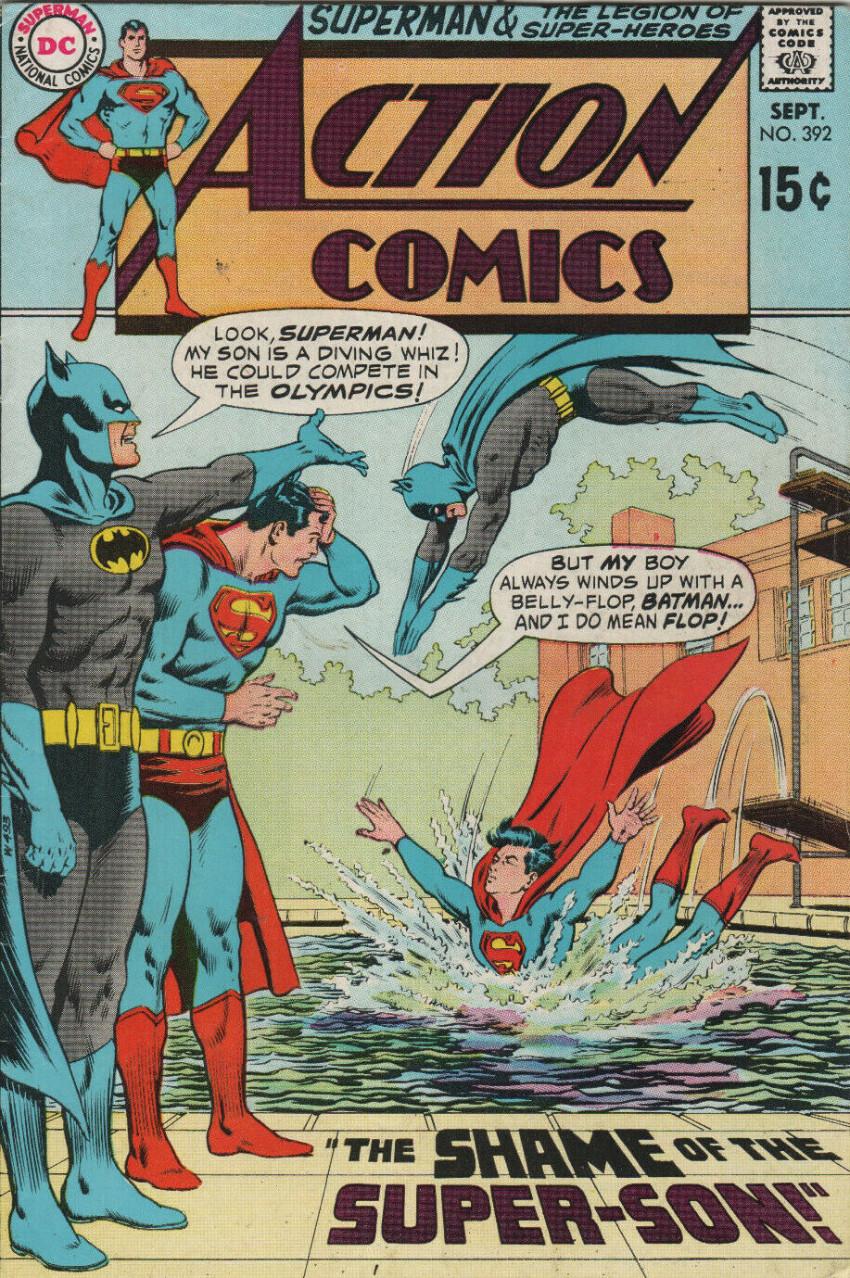 Couverture de Action Comics (DC Comics - 1938) -392- The Shame of the Super-Son!