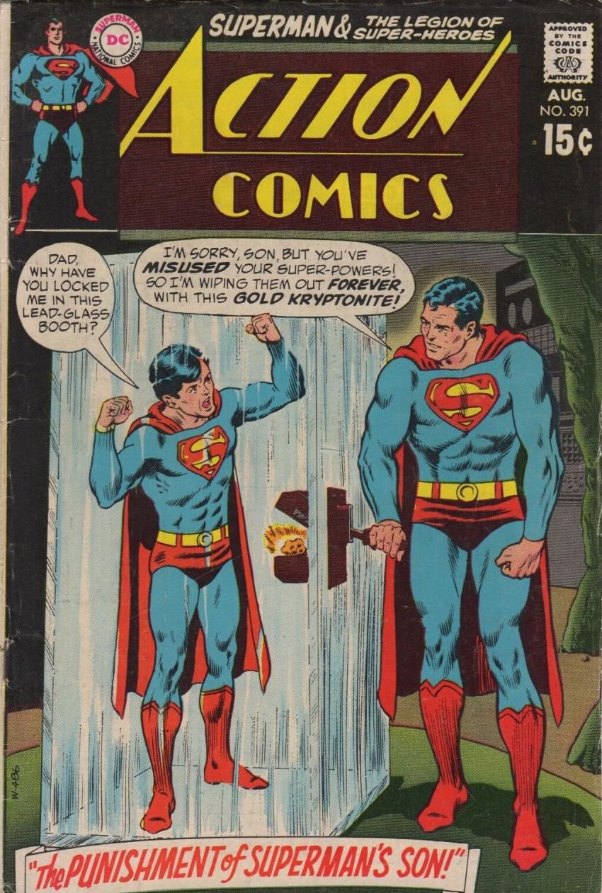 Couverture de Action Comics (DC Comics - 1938) -391- The Punishment of Superman's Son!