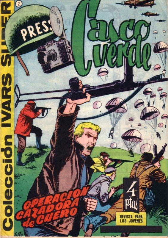 Couverture de Casco verde -2- Operación cazadora de cuero