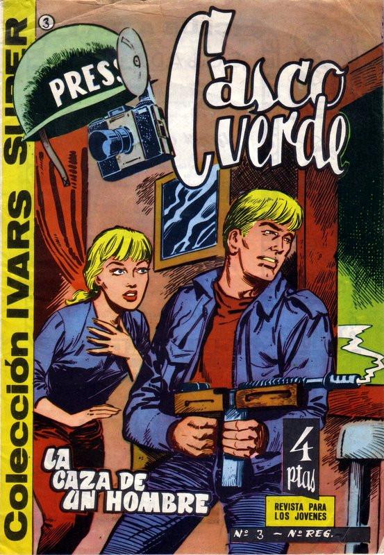 Couverture de Casco verde -3- La caza de un hombre