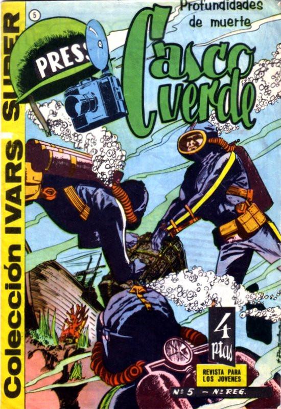 Couverture de Casco verde -5- Profundidades de muerte