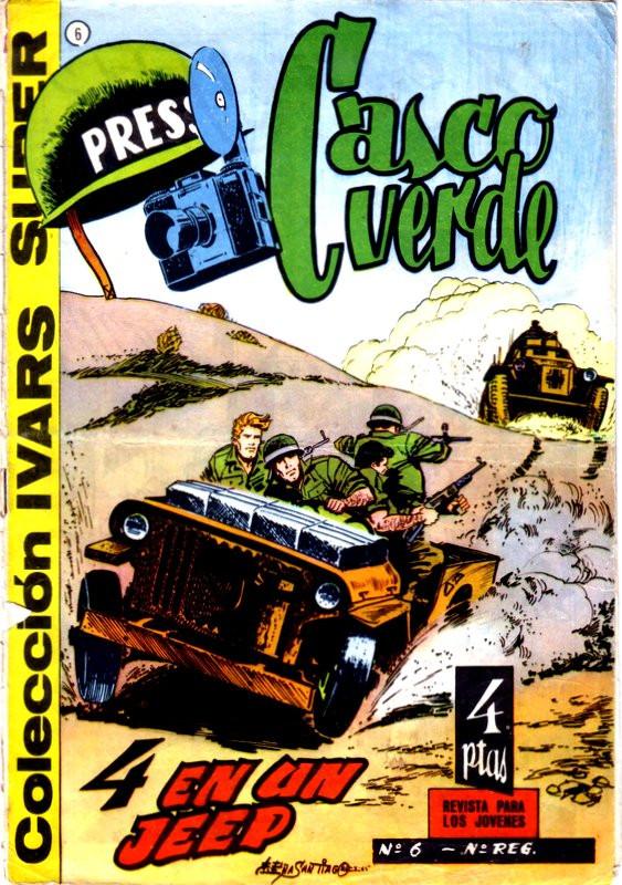 Couverture de Casco verde -6- 4 en un Jeep