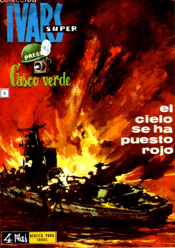 Couverture de Casco verde -8- El cielo se ha puesto rojo