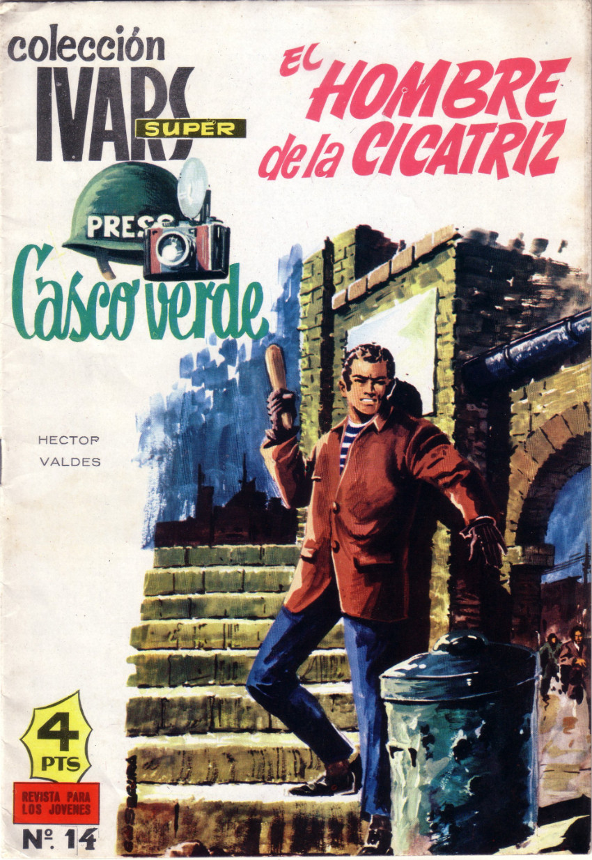 Couverture de Casco verde -14- El hombre de la cicatriz
