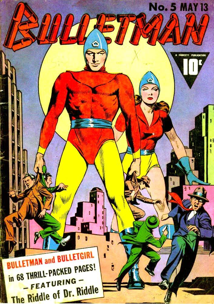 Couverture de Bulletman (Fawcett - 1941) -5- The Riddle of Dr. Riddle