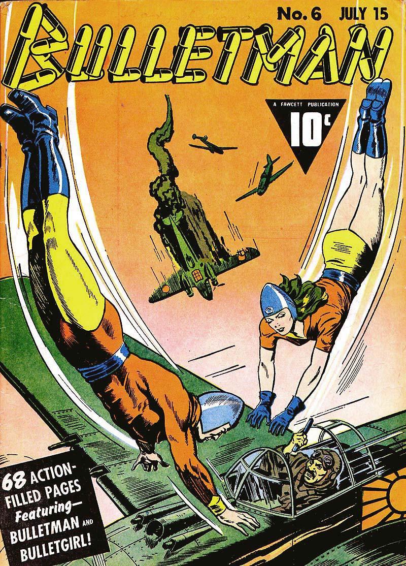 Couverture de Bulletman (Fawcett - 1941) -6- Issue # 6
