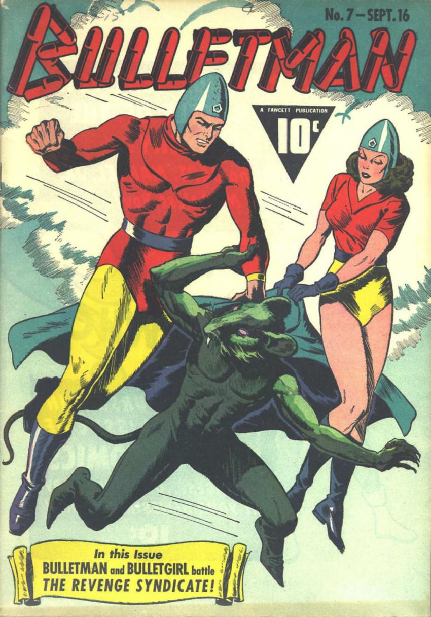 Couverture de Bulletman (Fawcett - 1941) -7- The Revenge Syndicate!