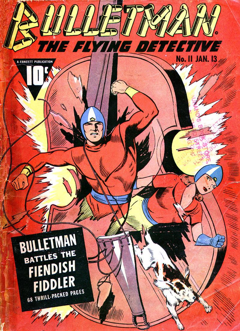 Couverture de Bulletman (Fawcett - 1941) -11- Issue # 11
