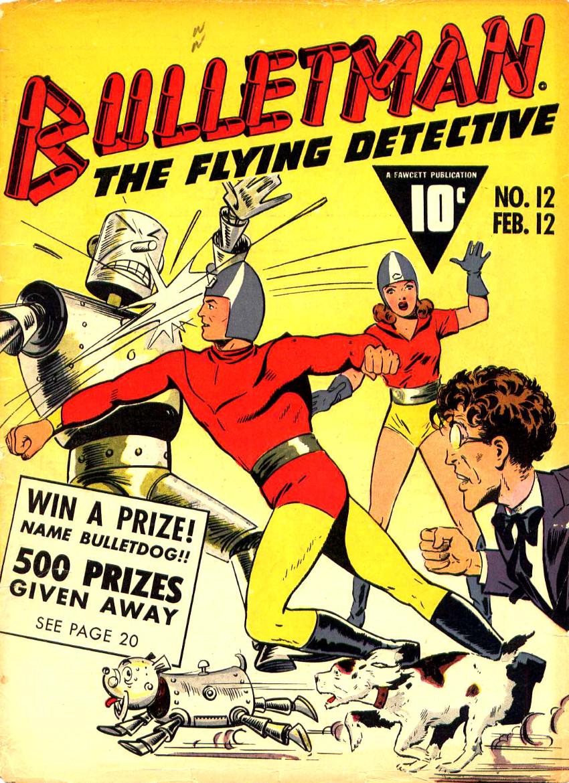 Couverture de Bulletman (Fawcett - 1941) -12- Issue # 12