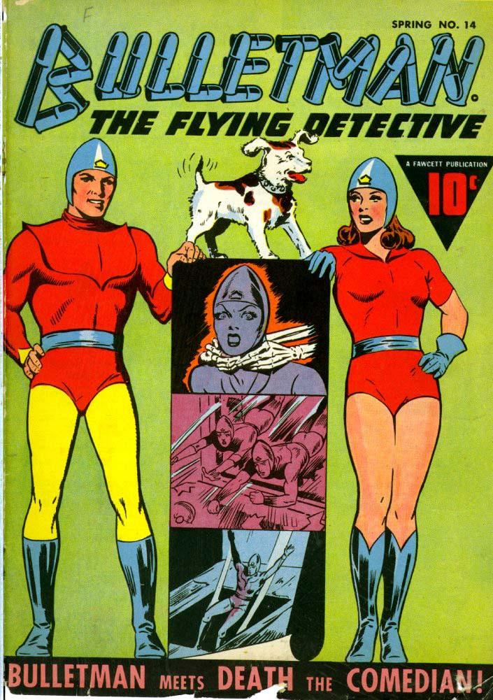 Couverture de Bulletman (Fawcett - 1941) -14- Bulletman Meets Death the Comedian