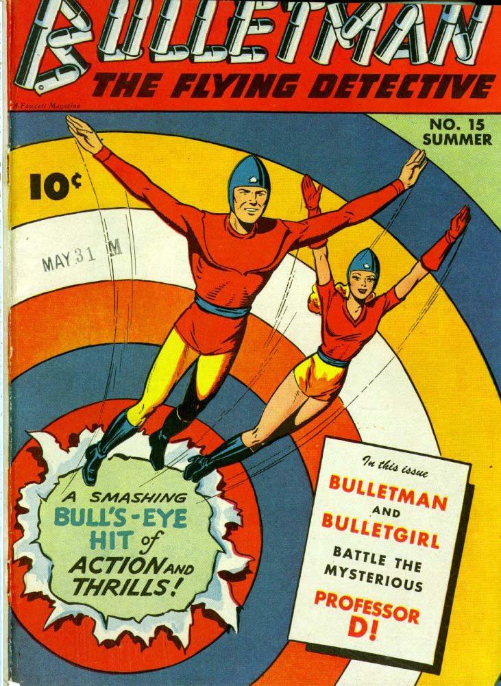 Couverture de Bulletman (Fawcett - 1941) -15- The Mysterious Professor D!