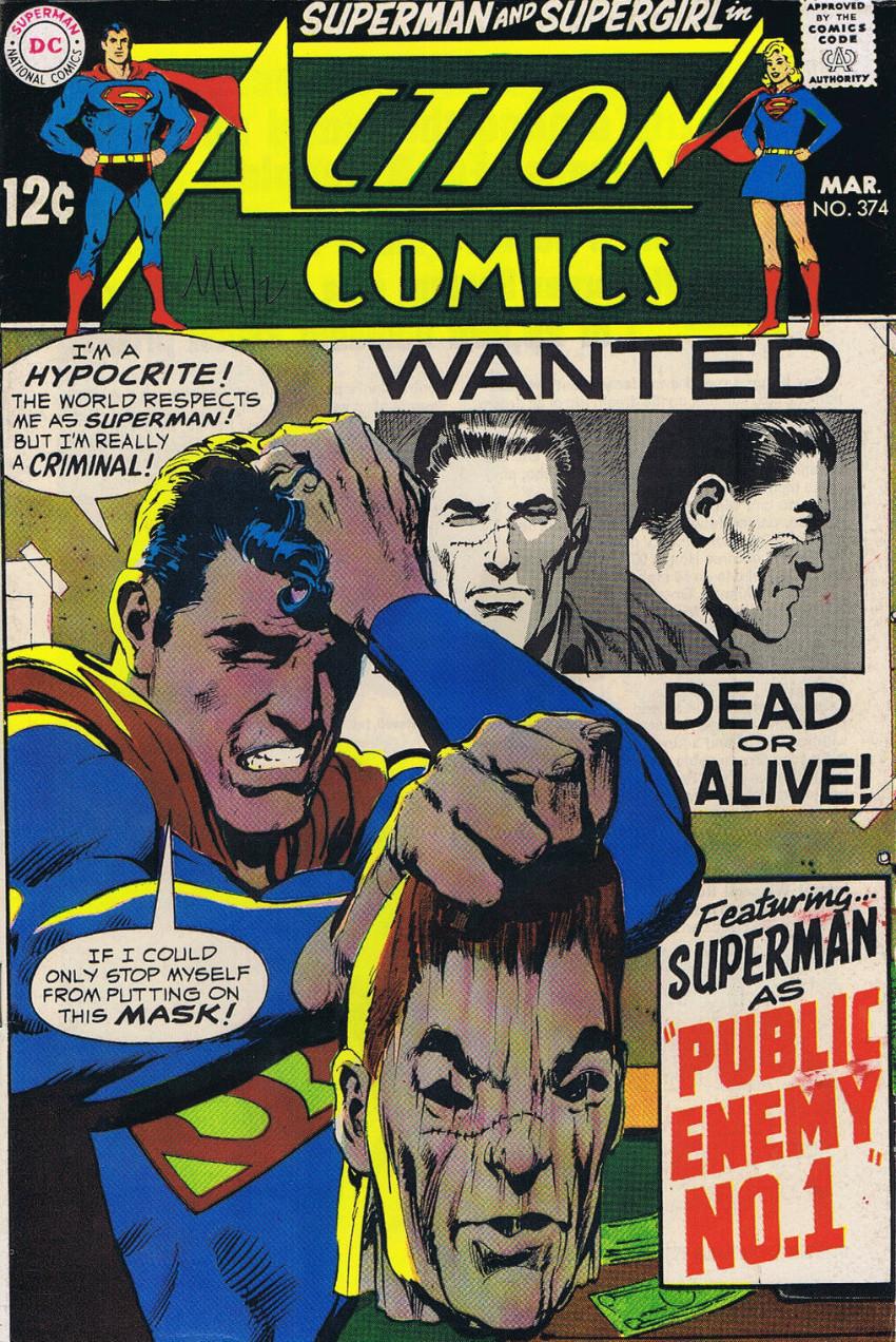 Couverture de Action Comics (DC Comics - 1938) -374- Public Enemy No. 1