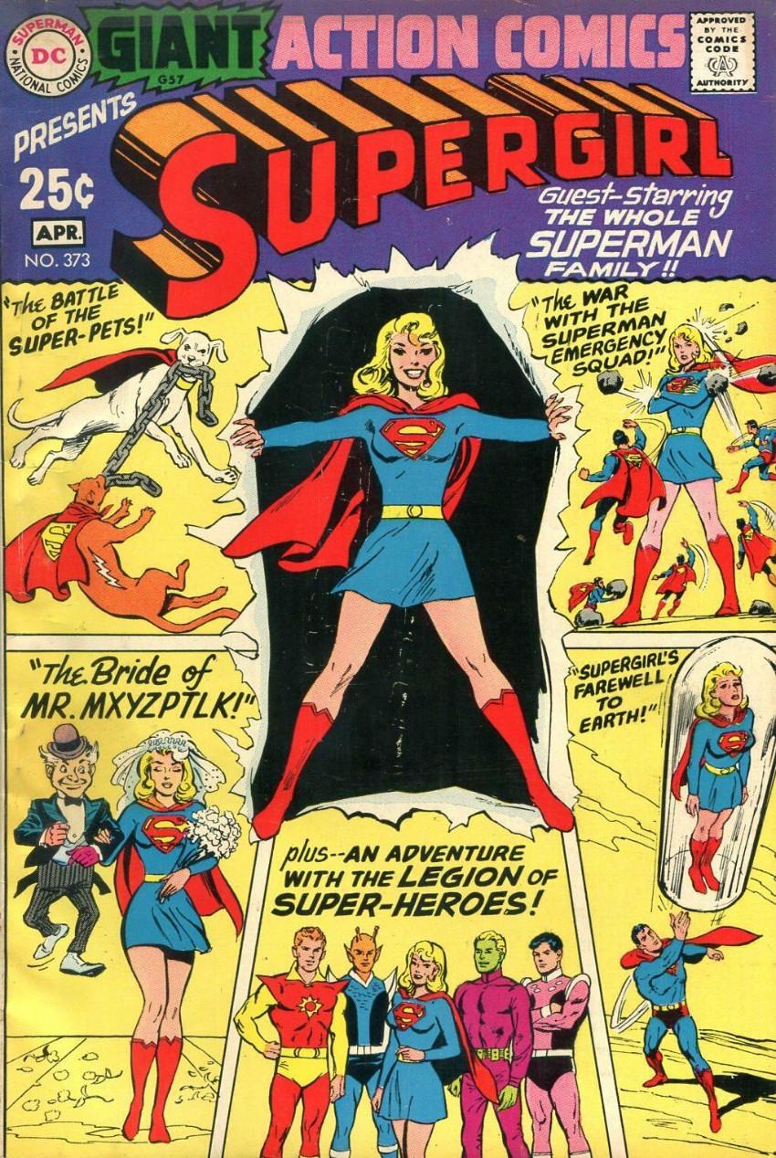 Couverture de Action Comics (DC Comics - 1938) -373- The Battle of the Super-Pets!