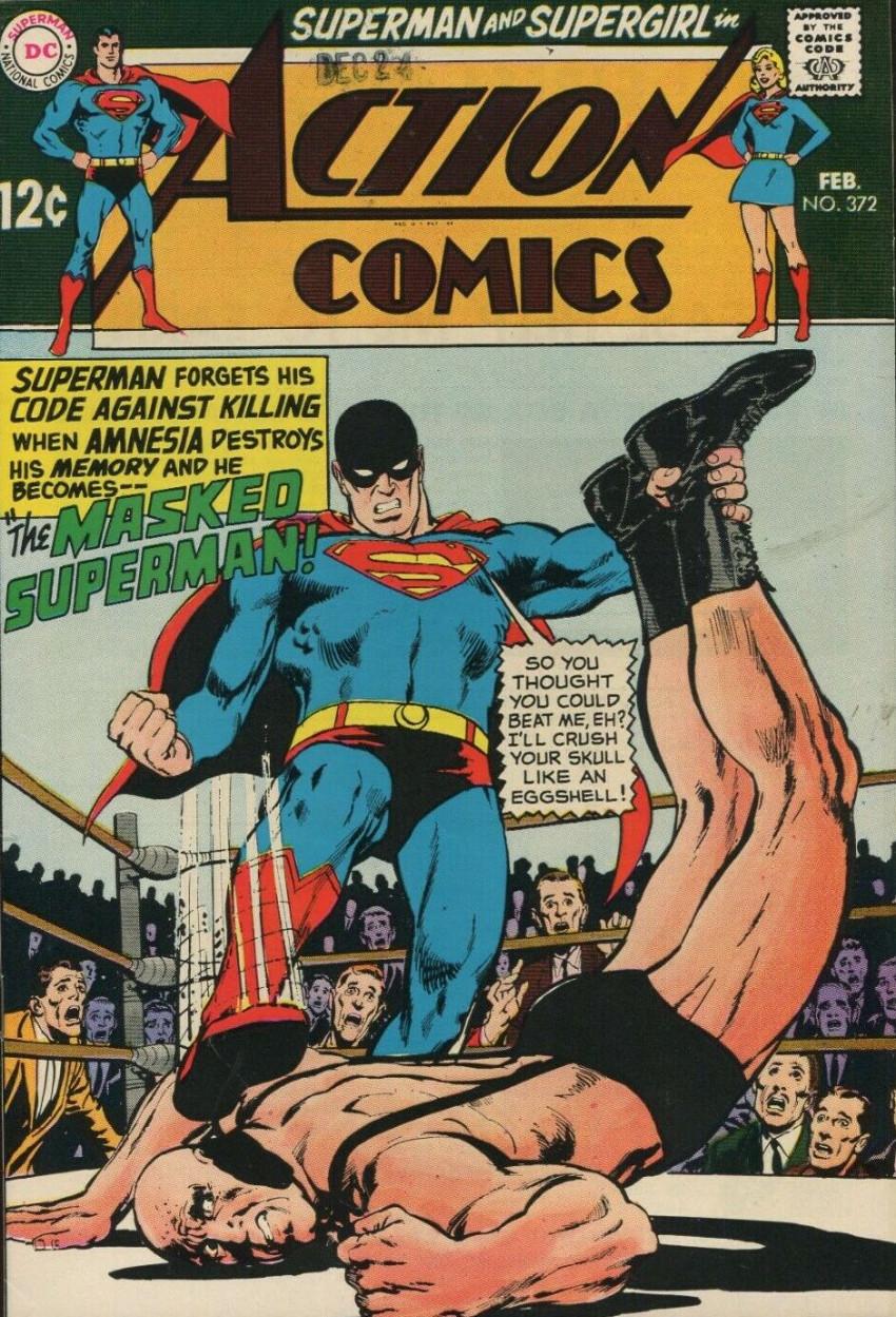 Couverture de Action Comics (DC Comics - 1938) -372- The Masked Superman!