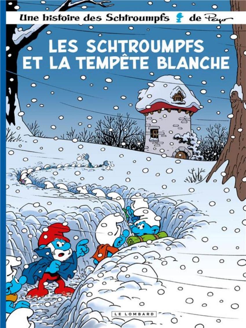 Couverture de Les schtroumpfs -39- Les schtroumpfs et la tempête blanche