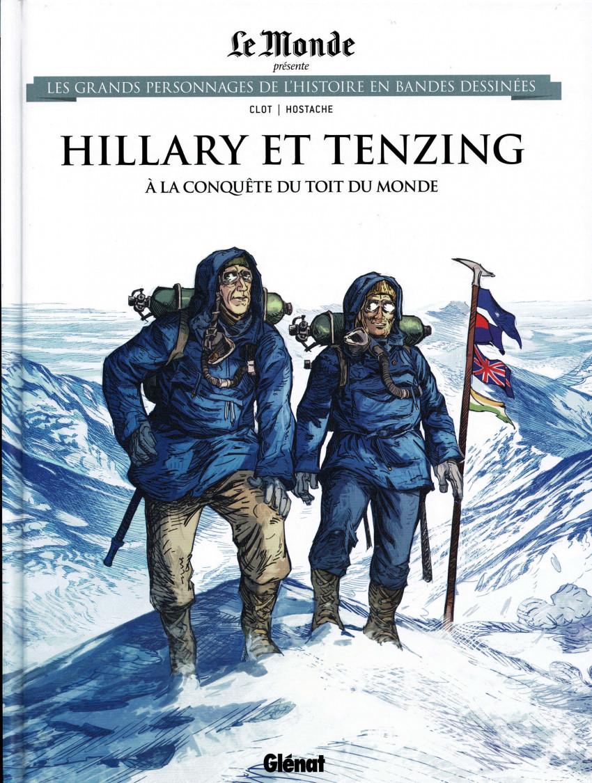 Couverture de Les grands Personnages de l'Histoire en bandes dessinées -70- Hillary et Tenzing