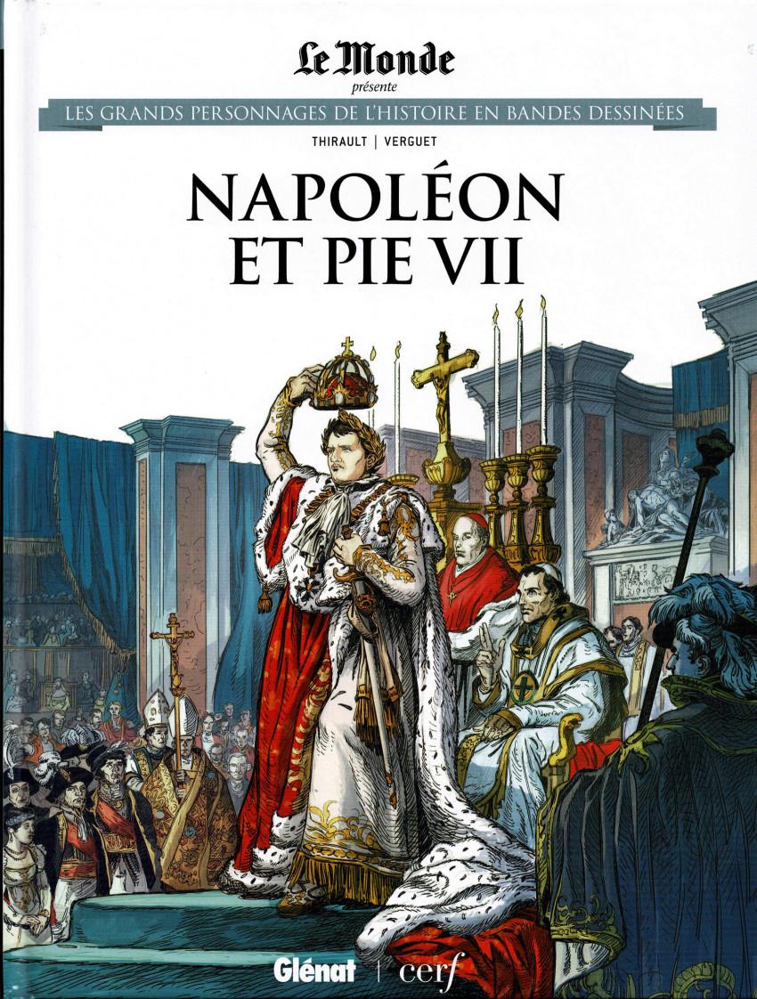 Couverture de Les grands Personnages de l'Histoire en bandes dessinées -71- Napolléon et Pie VII