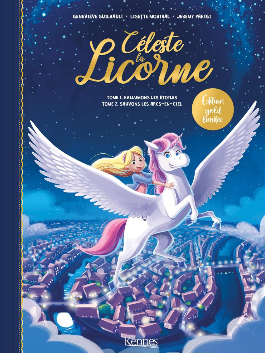 Couverture de Céleste la Licorne -3- édition spéciale Duo: Rallumons les étoiles & Sauvons les arcs-en-ciel
