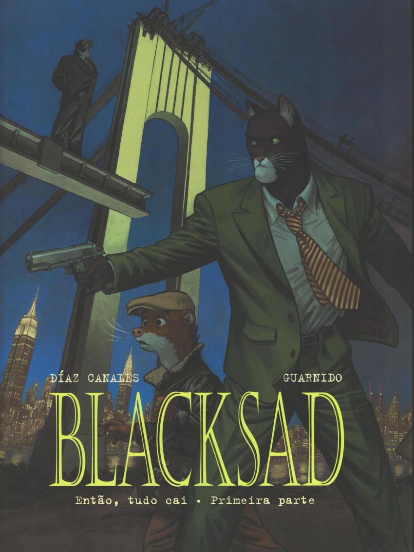 Couverture de Blacksad (en portugais) -6- Então, tudo cai - Primeira parte