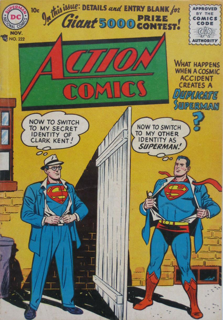 Couverture de Action Comics (DC Comics - 1938) -222- Duplicate Superman