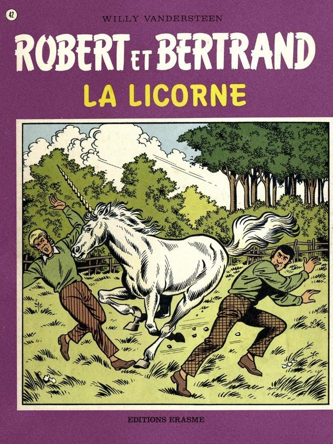 Couverture de Robert et Bertrand -42- La licorne