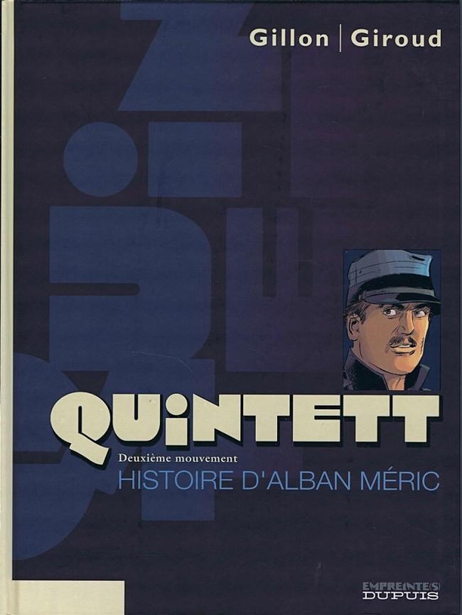 Couverture de Quintett -2- Deuxième mouvement : Histoire d'Alban Méric