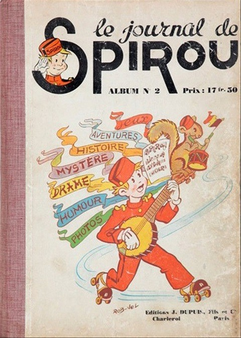 Couverture de (Recueil) Spirou (Album du journal) -2- Spirou album du journal