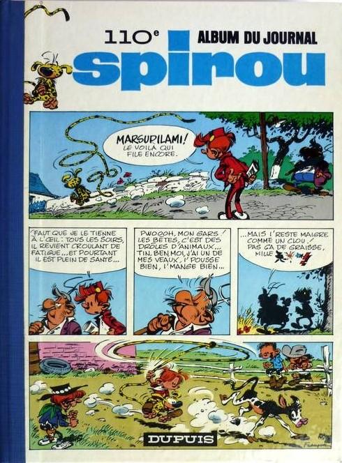 Couverture de (Recueil) Spirou (Album du journal) -110- Spirou album du journal