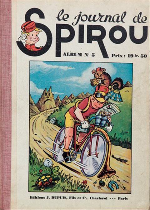 Couverture de (Recueil) Spirou (Album du journal) -5- Spirou album du journal