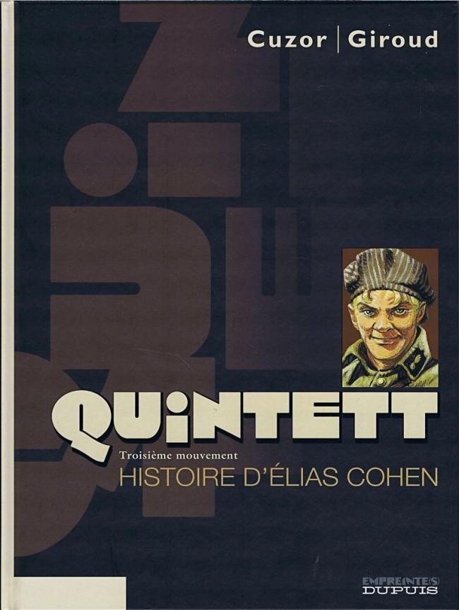 Couverture de Quintett -3- Troisième mouvement : Histoire d'Élias Cohen