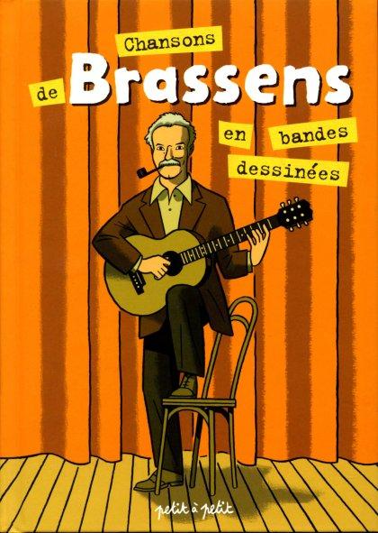 Couverture de Chansons en Bandes Dessinées  - Chansons de Brassens en bandes dessinées