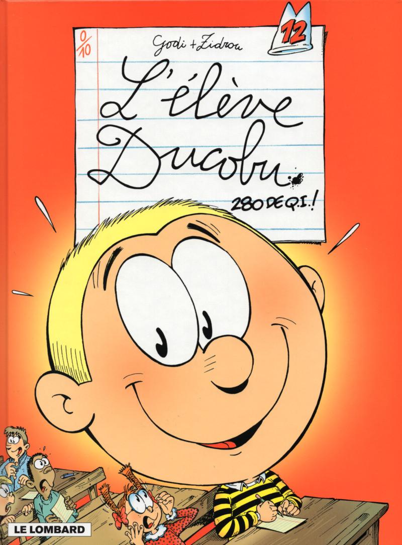 Couverture de L'Élève Ducobu -12- 280 de Q.I. !
