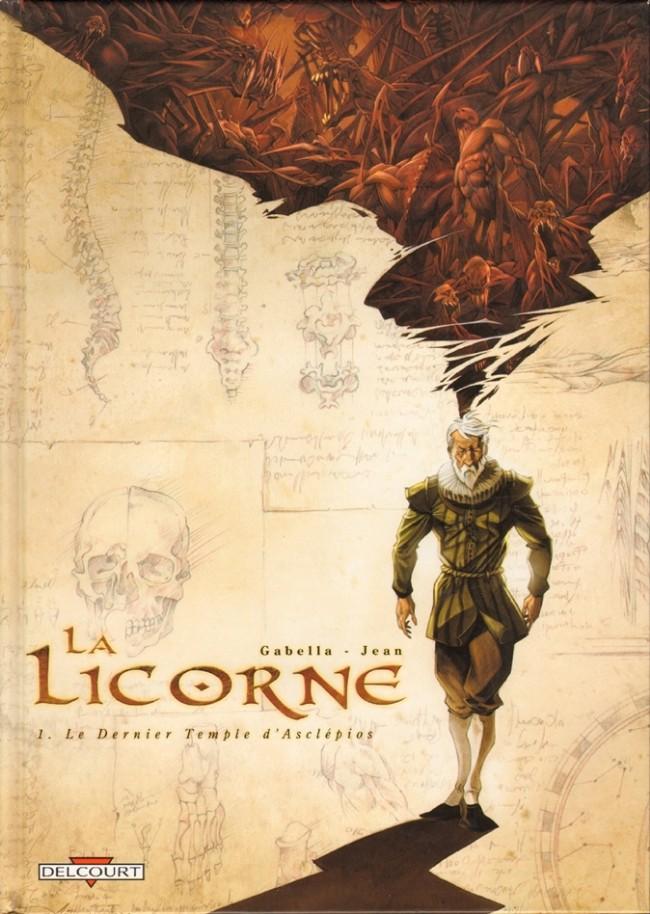 Couverture de La licorne -1- Le Dernier Temple d'Asclépios