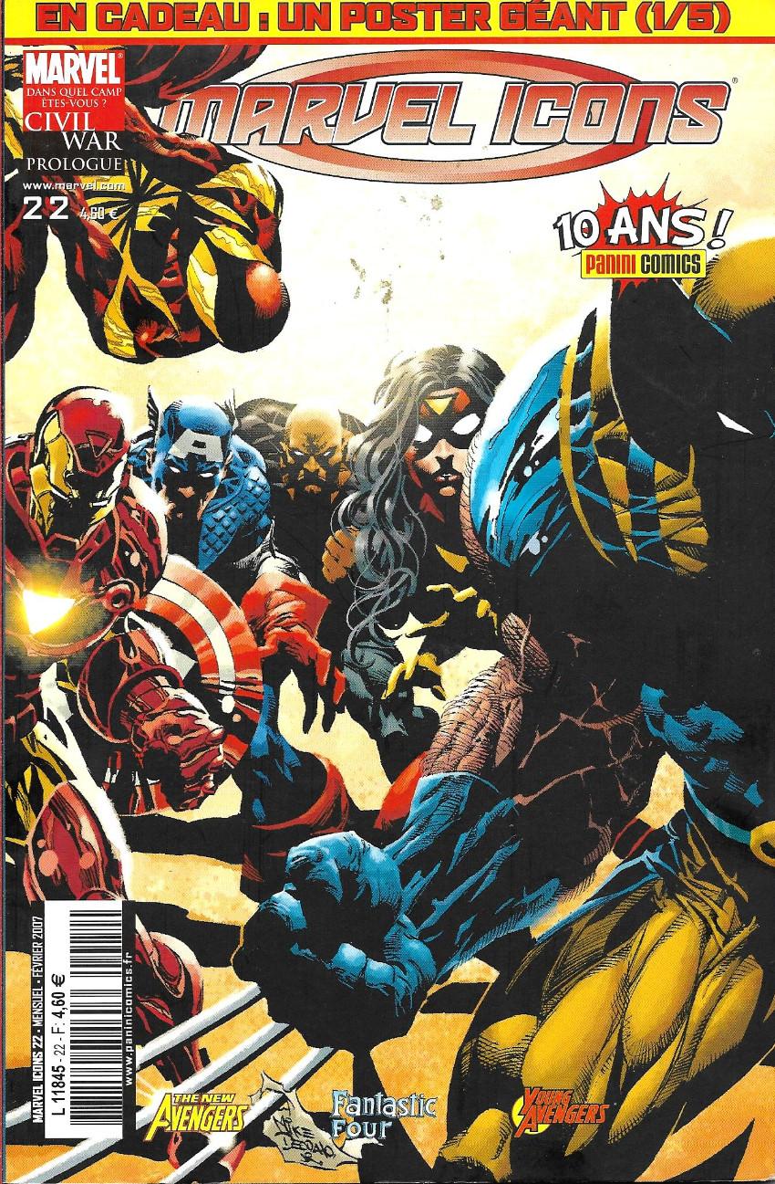 Couverture de Marvel Icons (Marvel France - 2005) -22- Affaires de famille