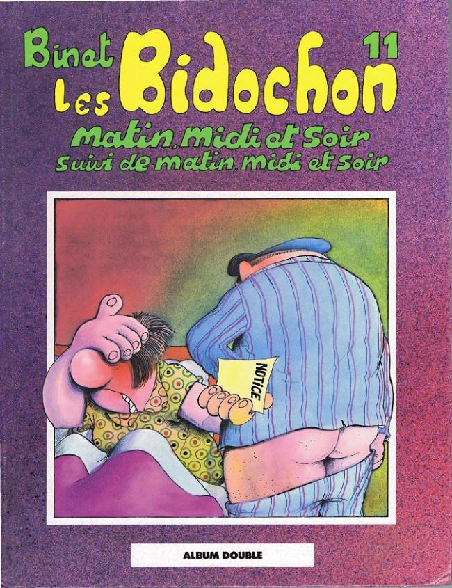 Couverture de Les bidochon (France Loisirs - Album Double) -6- Matin midi et soir suivi de matin midi et soir / Télespectateurs