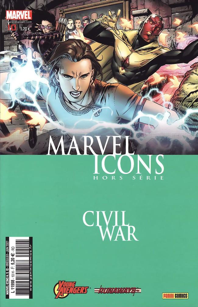 Couverture de Marvel Icons Hors Série -10- Les jeunes vengeurs & les fugitifs