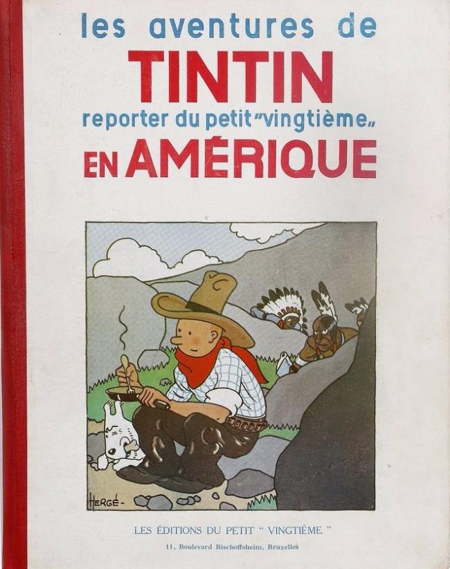 Couverture de Tintin (Historique) -3- Tintin en Amérique