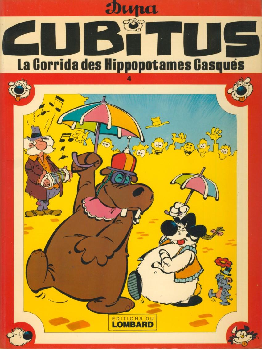 Couverture de Cubitus -4- La Corrida des Hippopotames Casqués