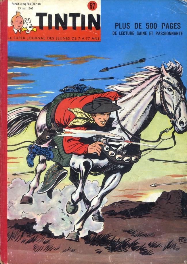 Couverture de (Recueil) Tintin (Album du journal - Édition belge) -57- Tome 57